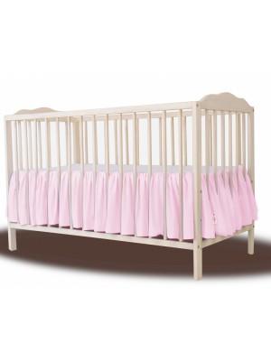 Baby Nellys Bavlnený volánik pod matrac - růžová - 120x60