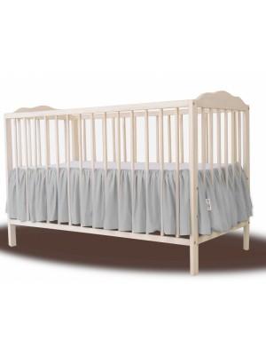 Baby Nellys Bavlnený volánik pod matrac - sivá - 120x60