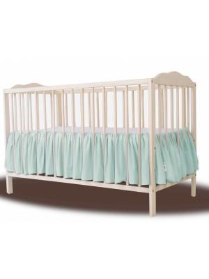 Baby Nellys Bavlnený volánik pod matrac - mátová, 140 x 70 cm - 140x70