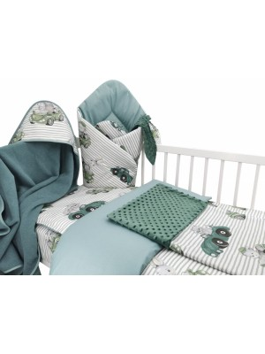 Baby Nellys 6-dielna výhod. súprava pre bábätko s darčekom,120 x 90, Baby Car, zelená - 120x90