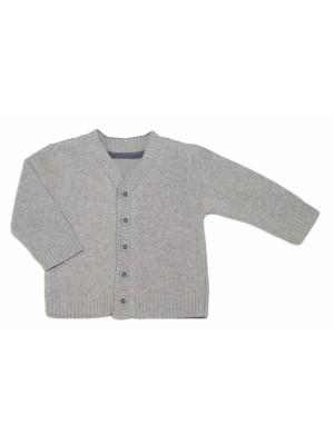 Chlapčenský svetrík K-Baby - sv. sivý, vel. 98 - 98 (2-3r)