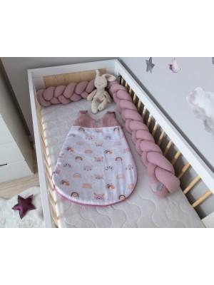 Baby Nellys Spací vak Vafel, bavlna LUX - Duha, 6-18m - 6/18měsíců