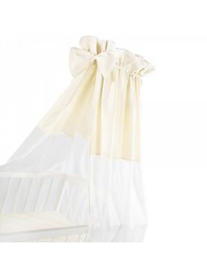 Albero Mio Luxusné nebesia 200 x 150 cm s mašličkou - biela / béžová