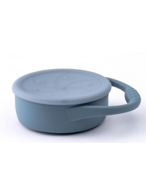 Baby in World Silikónová miska s prísavkou a lyžičkou - modrý