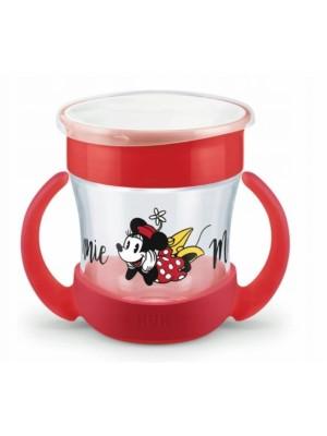 Hrnček NUK Mini magic Cup s úchytkami Minnie, červený, 6 m +