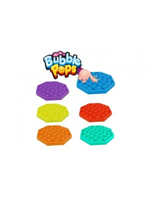 Bubble pops - Praskající bubliny silikon antistresová spol. hra, modrá