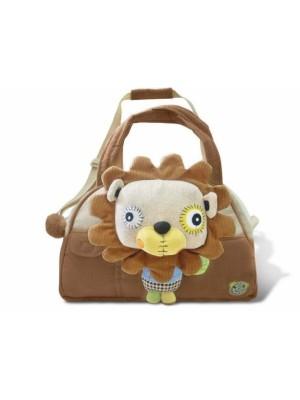 EcoSnoopers Štýlová detská taška Lev - hnedá