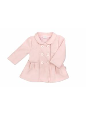 Baby Nellys Detský flaušový kabátik, púdrovo ružový, veľ. 92 - 92 (18-24m)