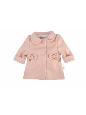 Baby Nellys Detský flaušový kabátik, púdrovo ružový, veľ. 98 - 98 (24-36m)