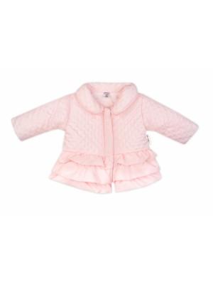 Baby Nellys Detská prechodová bundička s volánikmi, svetlo ružová, veľ. 98 - 98 (24-36m)