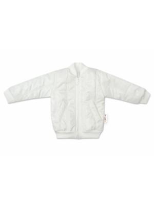 Baby Nellys Detská prešívaná prechodová bunda, biela, veľ. 80 - 80 (9-12m)