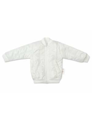 Baby Nellys Detská prešívaná prechodová bunda, biela, veľ. 92 - 92 (18-24m)