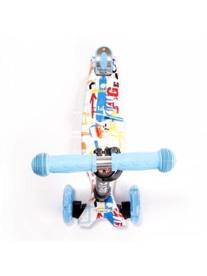 Detská tříkolová koloběžka Lorelli RAPID s LED svítícími kolečky TRACERY