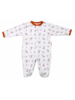 Baby Nellys Bavlnený dojčenský overal Teddy - biely, veľ. 68 - 68 (3-6m)