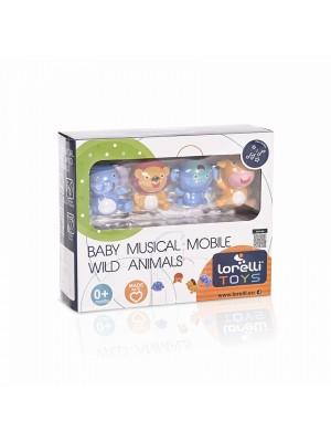 Hudební kolotoč na postieľku Lorelli Wild Animals