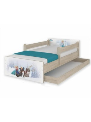 BabyBoo Detská junior posteľ Disney 200x90cm - Frozen + šufík - 200x90