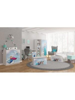 BabyBoo Detská junior posteľ Disney 200x90cm - Frozen - 200x90