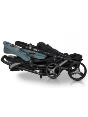 EasyGo Moderný športový kočík pre dvojčatá Fusion 2021 - heaven