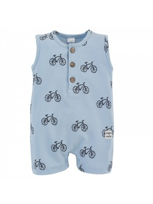Body s nohavičkami Summertime - Kolesá - modré, veľ. 68 - 68 (3-6m)