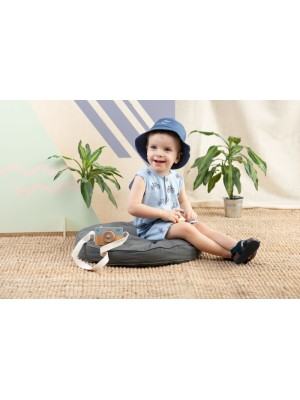 Body s nohavičkami Summertime - Kolesá - modré, veľ. 80 - 80 (9-12m)