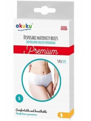 Akuku Jednorazové popôrodné nohavičky Premium - 5ks v balení, veľ. S