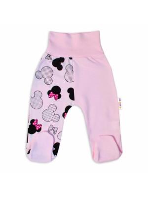 Baby Nellys Bavlnené dojčenské polodupačky Minnie - sv. ružová - 56 (1-2m)