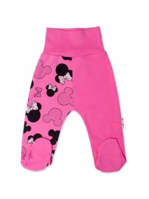 Baby Nellys Bavlnené dojčenské polodupačky Minnie - ružová - 56 (1-2m)
