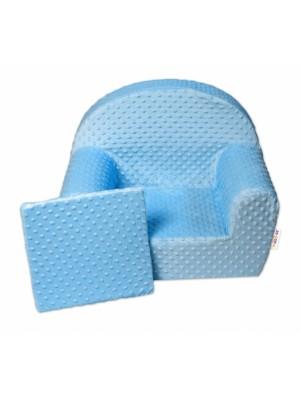 Baby Nellys Detské kresielko, pohovka s Minky Baby - svetlo modré