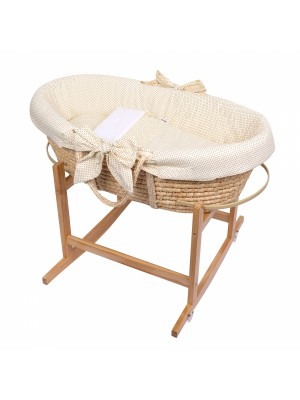 Baby Nellys Kôš Mojžišov pre bábätko so stojanom + matrace - béžová