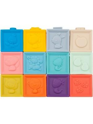 Tulimi Edukačný farebné mäkké kocky Čísla s pískátkem 12ks