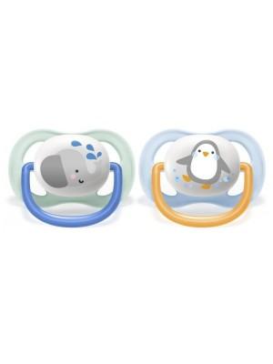 AVENT Cumlík Ultra Air Animals, 0-6m - Slon/tučniak, modrý