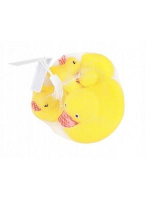 Akuku Hračky do vody Kačičky, 4 ks - žlté