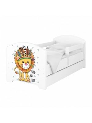 Babyboo Detská posteľ 140 x 70 cm - Lev so šuflíkom - 140x70
