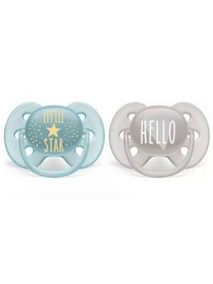 AVENT Cumlíky 6-18 m Ultra Soft Hello, Boy - modrá/sivá