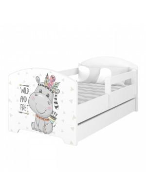 Babyboo Detská posteľ 140 x 70 cm - Hippo + šuplík - 140x70