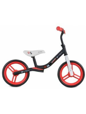 Byox Detský balančný bicykel Zig-Zag, červené