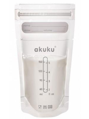 Akuku Jednorazové sterilné sáčky na skladovanie pokrmov - 150 ml, 30 ks