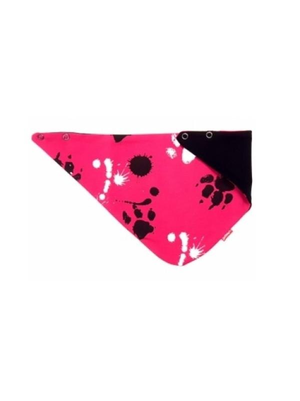 BEXA dvojvrstvová čiapka na zaväzovanie s uškami + šatka - Labky, bordo, veľ. 92/98 - 92-98 (18-36m)