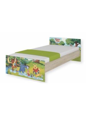 BabyBoo Detská junior posteľ Disney 180x90cm - Medvedík PÚ a čarovný les, D19 - 180x90