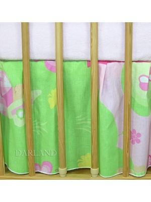 Darland Krásny volánik pod matrac - Motýlik ružový - 120x60