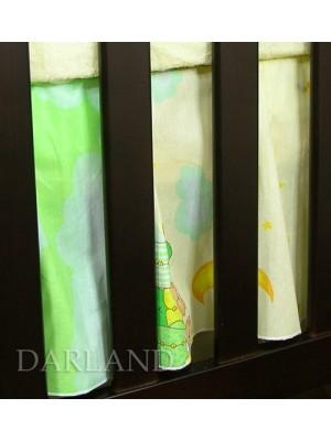 Darland Krásny volánik pod matrac - Obláčik zelený - 120x60