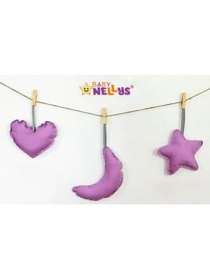 Baby Nellys Dekorácie Be love Nechtík - fialová