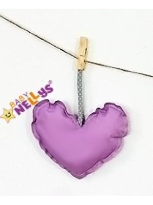 Baby Nellys Dekorácie Be love Srdiečko - fialová
