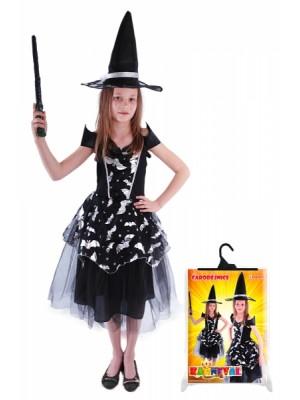 Detský kostým čarodejnice Netopýrky (S), Čarodejnica / Halloween