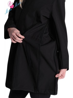 Be MaaMaa Tehotenská softshellová bunda, kabátik - červená - XL (42)