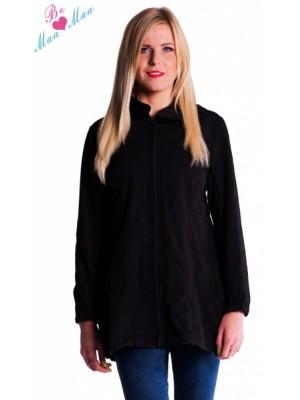 Be MaaMaa Tehotenská softshellová bunda, kabátik - čierna -  S (36)