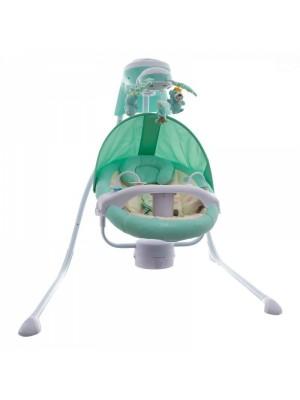 Euro Baby Detská elektrická hojdačka a ležadlo - zelené  D19