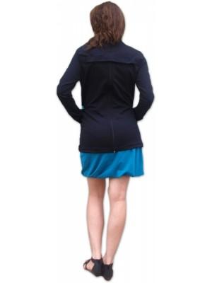 JOŽÁNEK Nosiaci mikina - pre nosenie dieťaťa vpredu aj vzadu na tele - tyrkysová aplikácie - L/XL