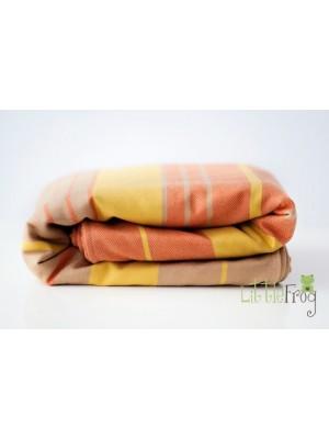 Little FROG Tkaný šatka na nosenie detí s vlnou MERINO - Citrine - L (40)