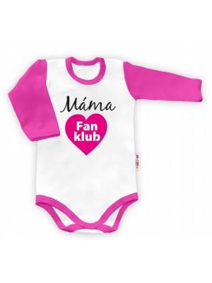 Baby Nellys Body dlhý rukáv Máma Fan klub - 48 (0+)